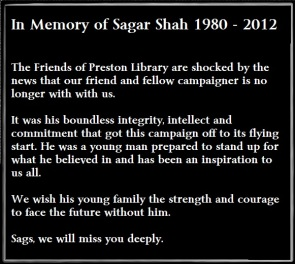 In Memory of Sagar Shah 1980 - 2012